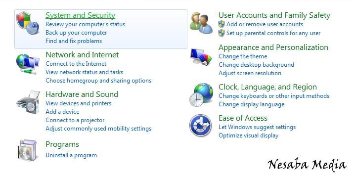cara menonaktifkan windows update windows 7 untuk pemula