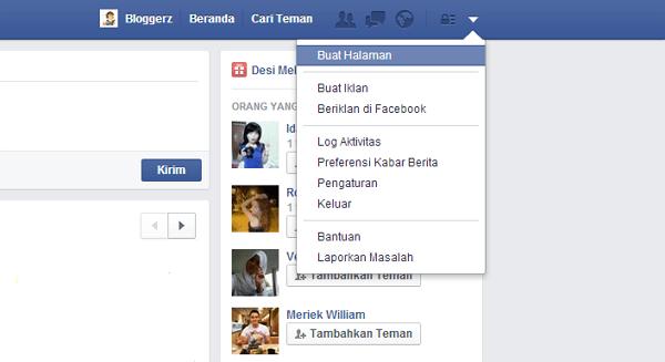 cara membuat fans page fb