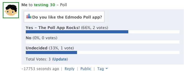polling edmodo