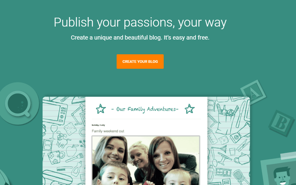 klik CREATE YOUR BLOG