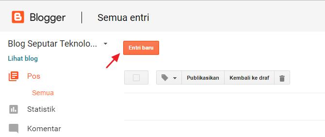 Klik tombol Entri baru