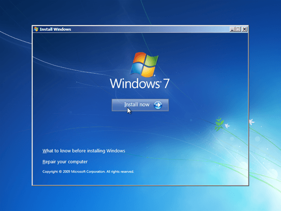 cara ulang menginstal windows 7