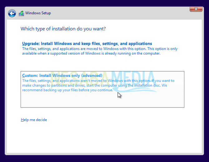 cara menginstall windows 8
