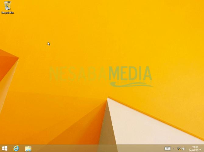 Tampilan desktop windows 8
