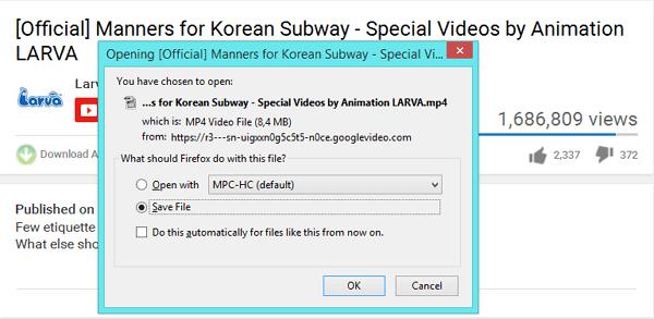 pilih save file, kemudian OK