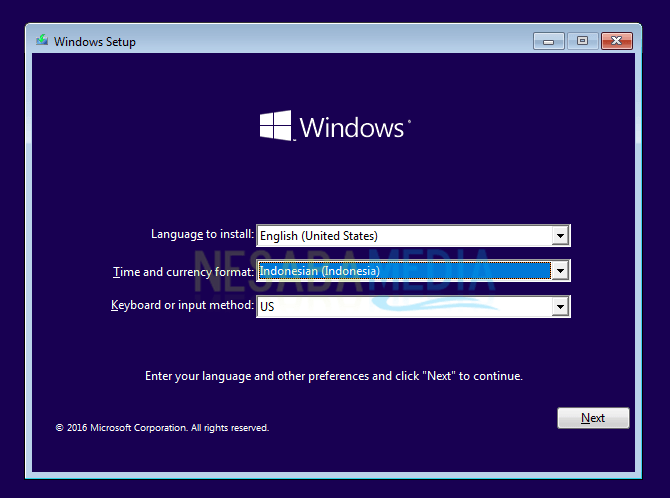 pilih time and currency windows 10
