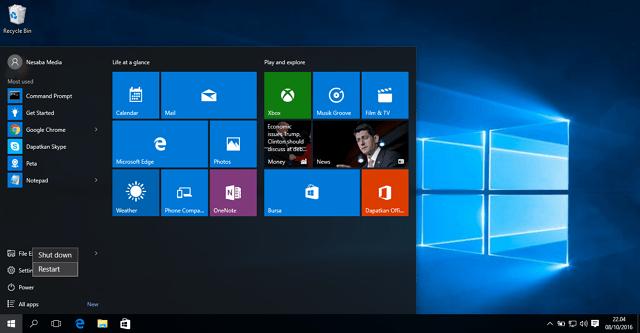 begini cara masuk safe mode windows 10
