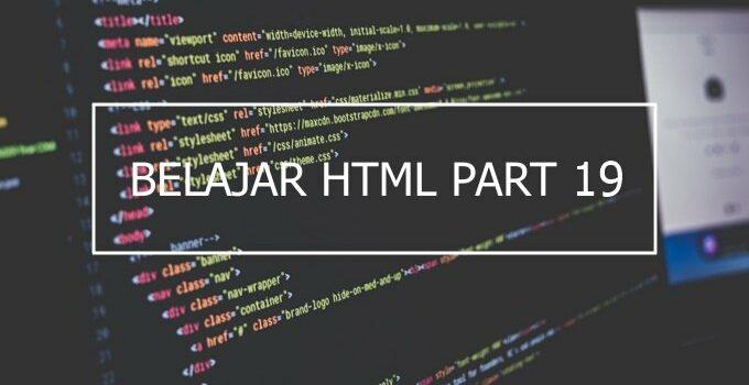 cara membuat tabel di HTML