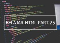Penggunaan atribut width dan height pada tabel HTML