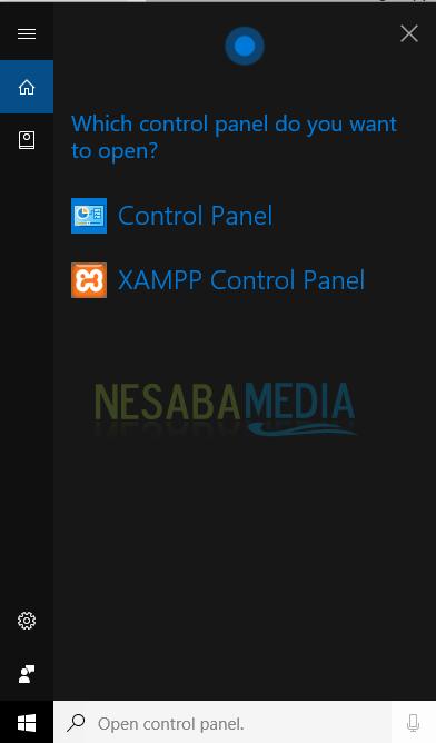cara membuka control panel