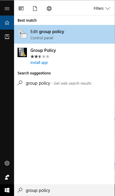 Editor Group Policy