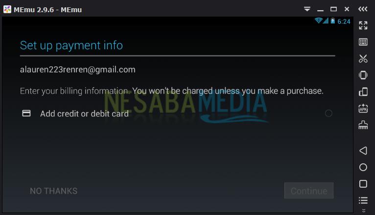 konfigurasi info pembayaran