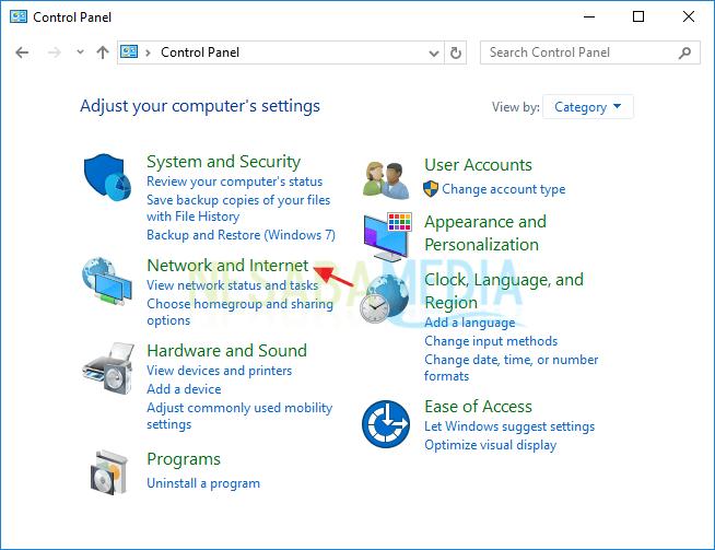 mengaktifkan file and printer sharing