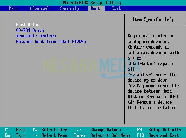 HDD booting pertama kali windows 10