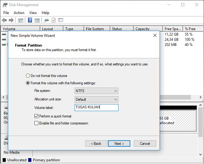 cara menghapus partisi hardisk windows 10