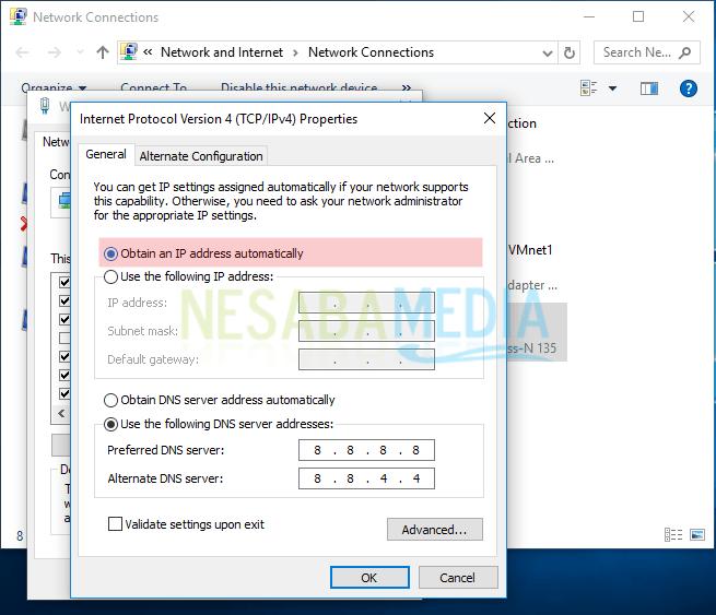 cara mengganti ip address windows 7