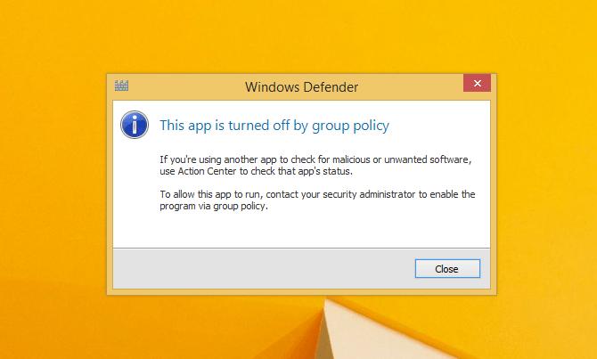 cara mengaktifkan windows defender yang turn off by group policy