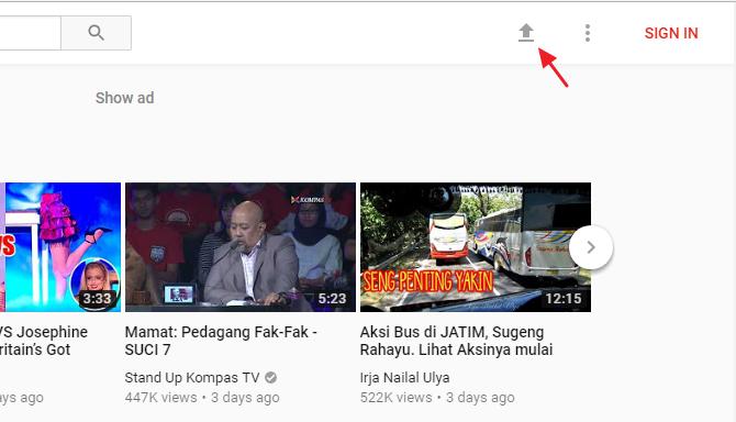 cara upload video ke youtube