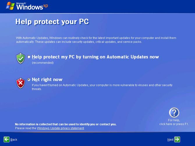 windows update windows xp