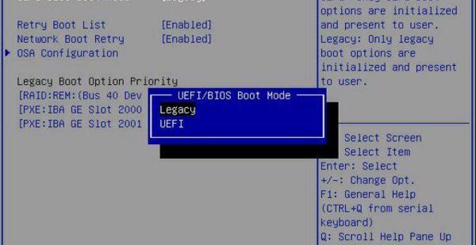 pengertian BIOS dan perbedaannya dengan Legacy