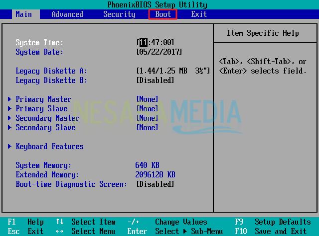 setting bios windows XP part 1