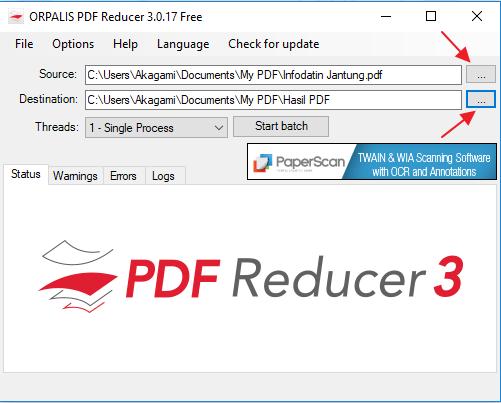 Kompress PDF dengan ORPALIS PDF Reducer 4