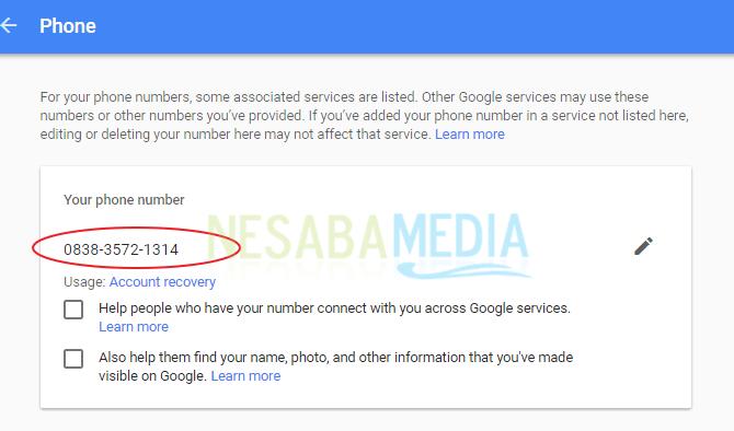 menambahkan nomor ponsel di gmail 11