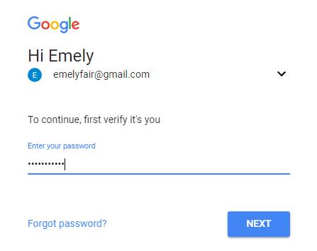 mengganti password gmail 5