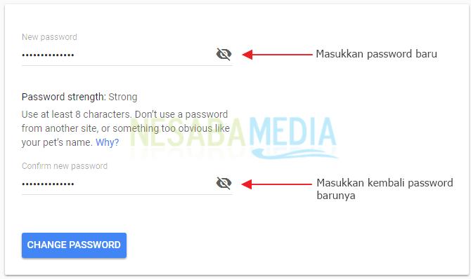 mengganti password gmail 6