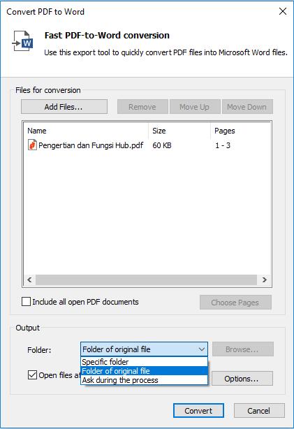 proses converting pdf ke word