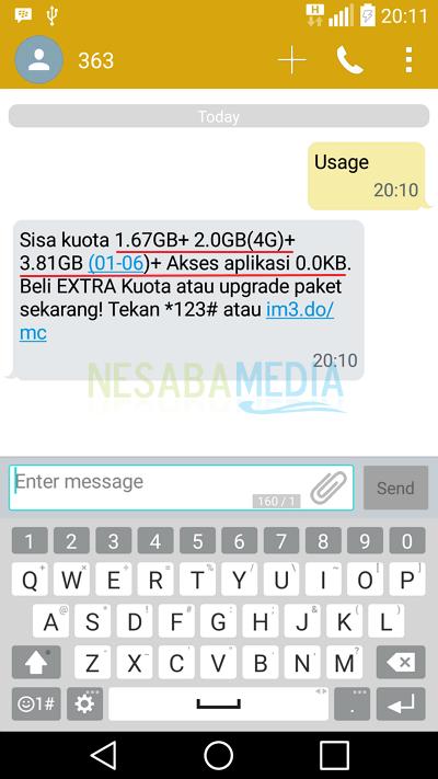 Melalui SMS 2