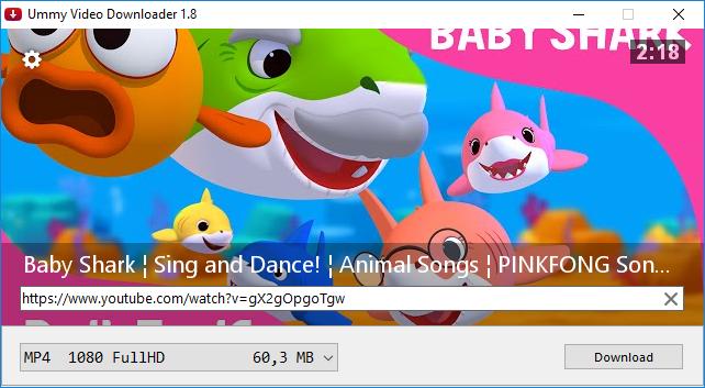 sesudah memasukkan url video, klik Enter