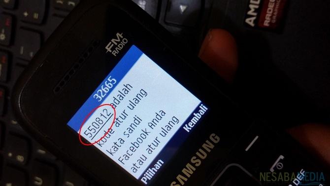 sms berupa kode keamananan