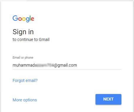 lupa password gmail