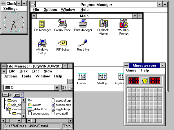 Windows 3 – 1990