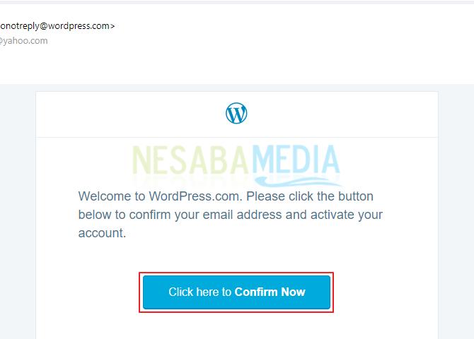 Buka inbox email anda