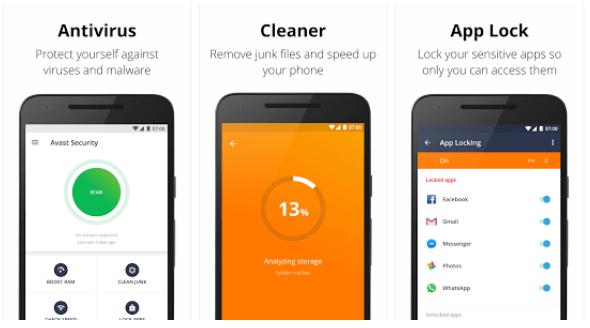 Tampilan Avast Mobile