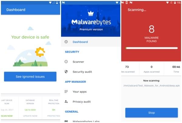 Tampilan Malwarebytes