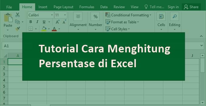 cara Menghitung Persentase (%) di Excel