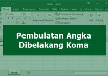 Pembulatan Angka Dibelakang Koma di Excel