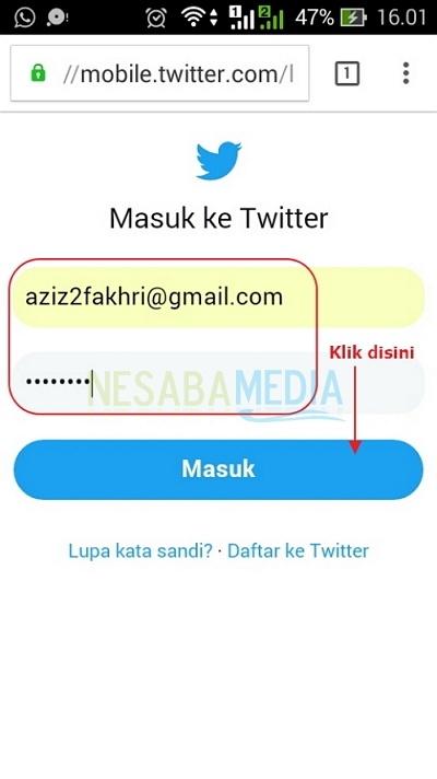cara menghapus akun twitter lewat pc
