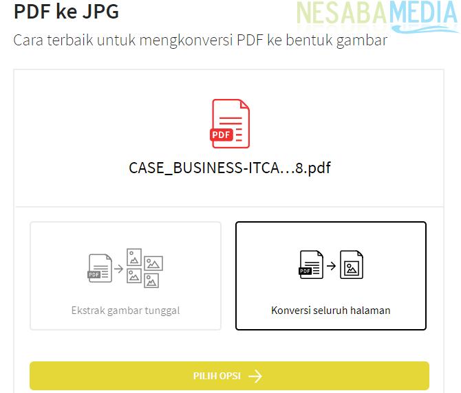 Cara Mengubah PDF ke JPG secara online