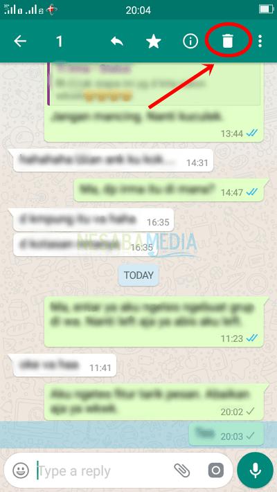 cara menarik pesan di whatsapp yang sudah terkirim