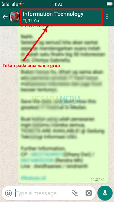cara keluar dari grup whatsapp tanpa diketahui admin