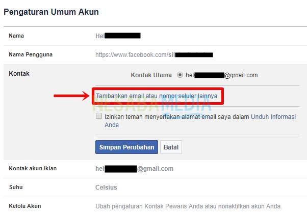 Langkah 4 - pilih tambah email