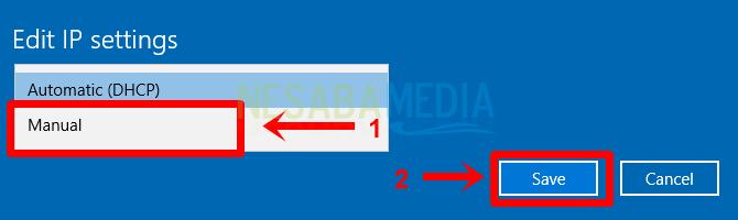Langkah 5 - pilih manual