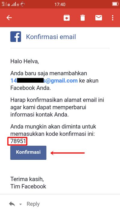 Langkah 8 - buka email lalu pilih konfirmasi