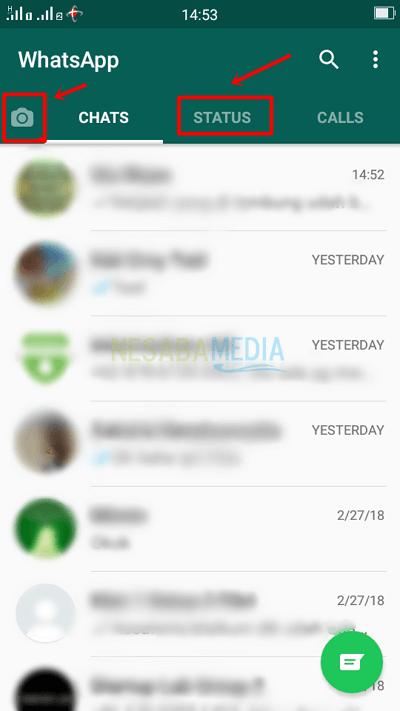 Cara Membuat Status di Whatsapp