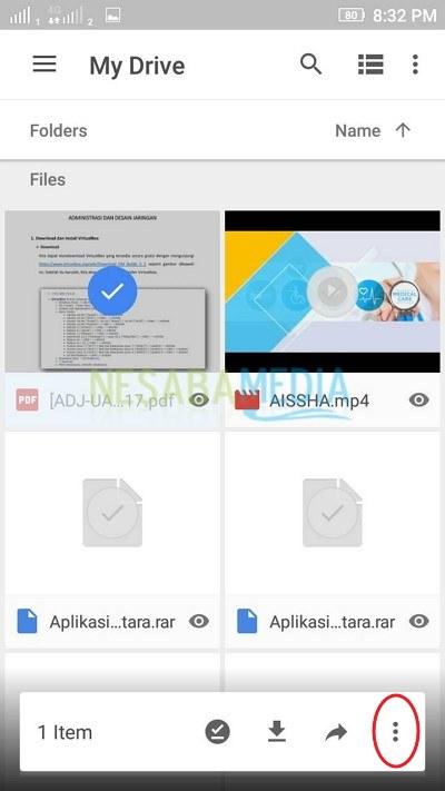 Pilih file atau folder
