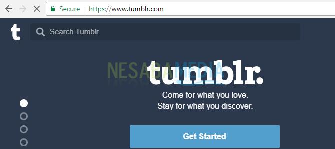 mengakses Tumblr pada Chrome